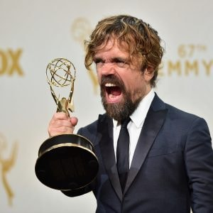 Peter Dinklage accepting Emmy.