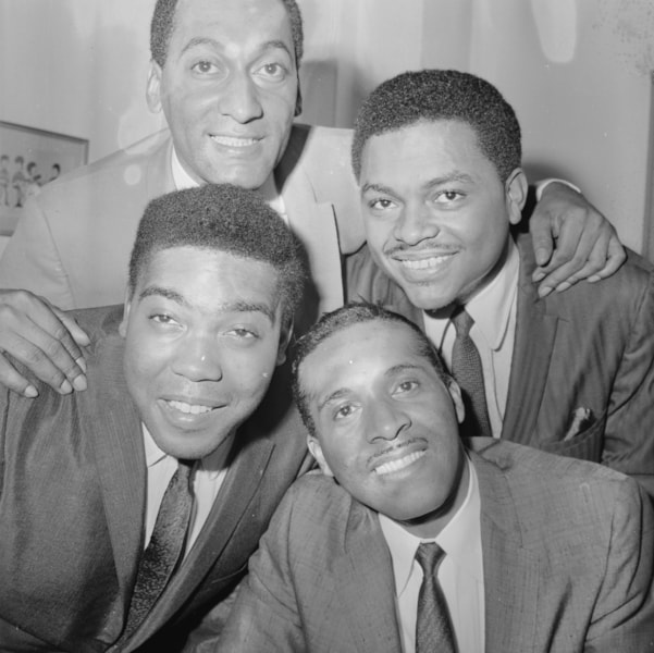 8th November 1966:  The Four Tops, one of Motown's most successful groups.