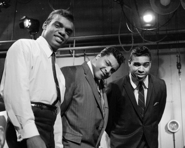 November 1964:  Ronald, Rudolph and O'Kelly; gospel influenced pop vocal group The Isley Brothers, performing on the British television show 'Ready Steady Go'.