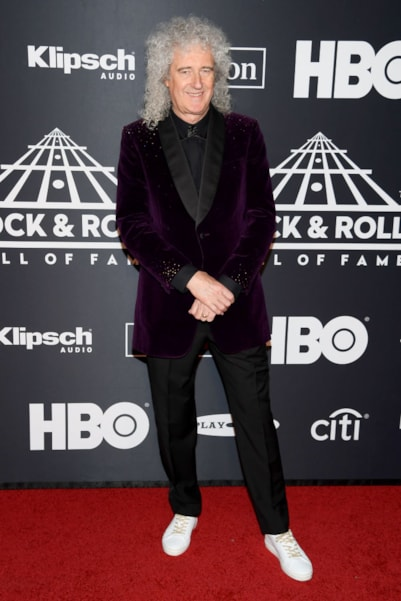 NEW YORK, NEW YORK - MARCH 29: Brian May attends the 2019 Rock & Roll Hall Of Fame Induction Ceremony at Barclays Center on March 29, 2019 in New York City. (Photo by Dimitrios Kambouris/Getty Images For The Rock and Roll Hall of Fame)
