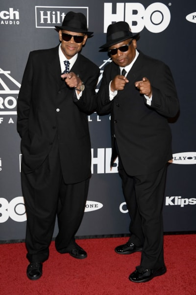 NEW YORK, NEW YORK - MARCH 29: Jimmy Jam and Terry Lewis attend the 2019 Rock & Roll Hall Of Fame Induction Ceremony at Barclays Center on March 29, 2019 in New York City. (Photo by Dimitrios Kambouris/Getty Images For The Rock and Roll Hall of Fame)
