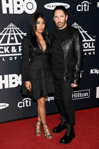 NEW YORK, NEW YORK - MARCH 29: Trent Reznor and Mariqueen Maandig attend the 2019 Rock & Roll Hall Of Fame Induction Ceremony at Barclays Center on March 29, 2019 in New York City. (Photo by Dimitrios Kambouris/Getty Images For The Rock and Roll Hall of Fame)