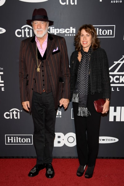 NEW YORK, NEW YORK - MARCH 29: Mick Fleetwood and Lynn Frankel attend the 2019 Rock & Roll Hall Of Fame Induction Ceremony at Barclays Center on March 29, 2019 in New York City. (Photo by Dimitrios Kambouris/Getty Images For The Rock and Roll Hall of Fame)