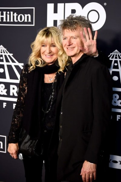 NEW YORK, NEW YORK - MARCH 29: Christine McVie and Neil Finn of Fleetwood Mac attend the 2019 Rock & Roll Hall Of Fame Induction Ceremony at Barclays Center on March 29, 2019 in New York City. (Photo by Dimitrios Kambouris/Getty Images For The Rock and Roll Hall of Fame)