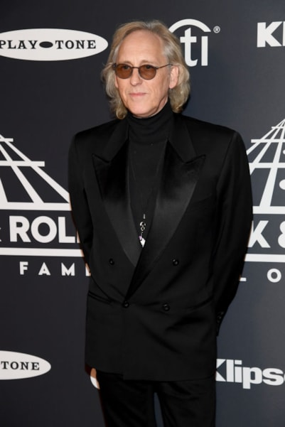 NEW YORK, NEW YORK - MARCH 29: Inductee Eddie Jobson of Roxy Music attends the 2019 Rock & Roll Hall Of Fame Induction Ceremony at Barclays Center on March 29, 2019 in New York City. (Photo by Dimitrios Kambouris/Getty Images For The Rock and Roll Hall of Fame)