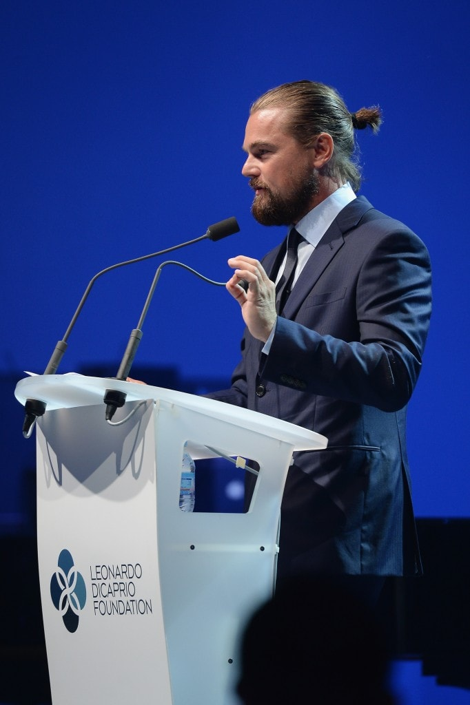 SAINT-TROPEZ, FRANCE - JULY 23:   In this handout provided by the Leonardo Dicaprio Foundation, Leonardo DiCaprio performs on stage during the Leonardo Dicaprio Foundation Launch at Domaine Bertaud Belieu on on July 23, 2014 in Saint-Tropez, France.  (Photo by Dominique Charriau/Getty Images For LDC Foundation)