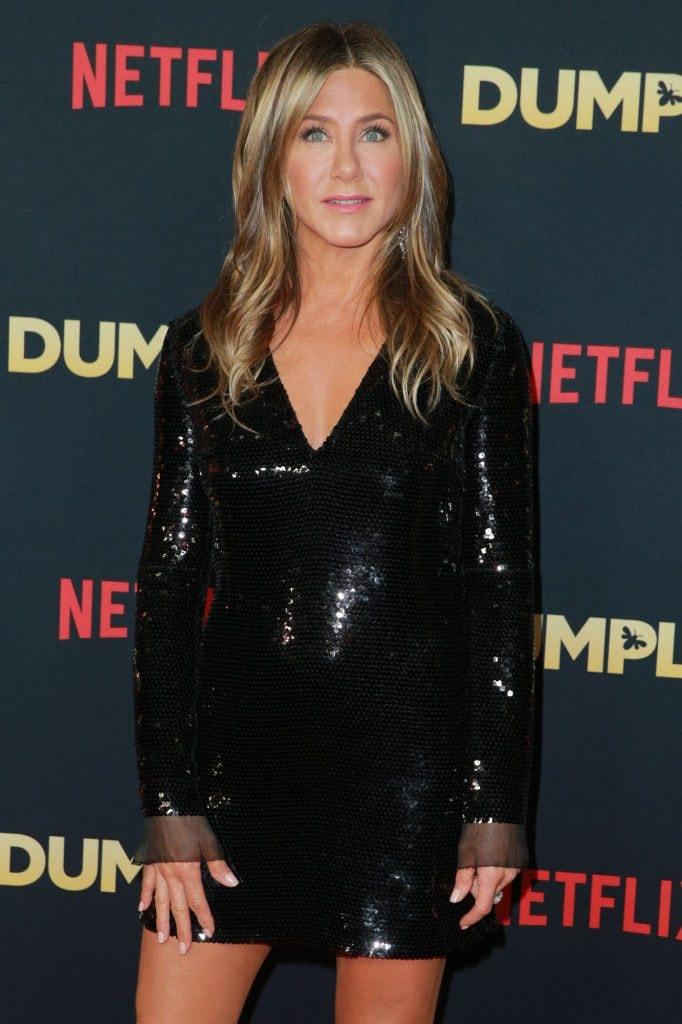 "Jennifer Aniston at the premiere of Netflix's ""Dumplin"""
